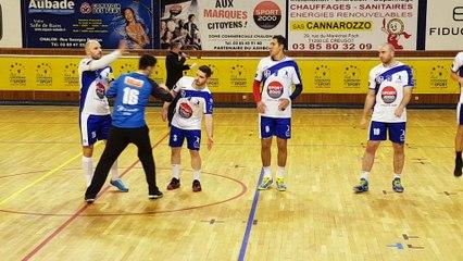 Présentation des joueurs avant Match contre Vénissieux le 11 Novembre à la MDS