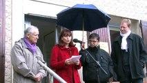 Inauguration sous la pluie ce matin du local de campagne du PC à Port de Bouc