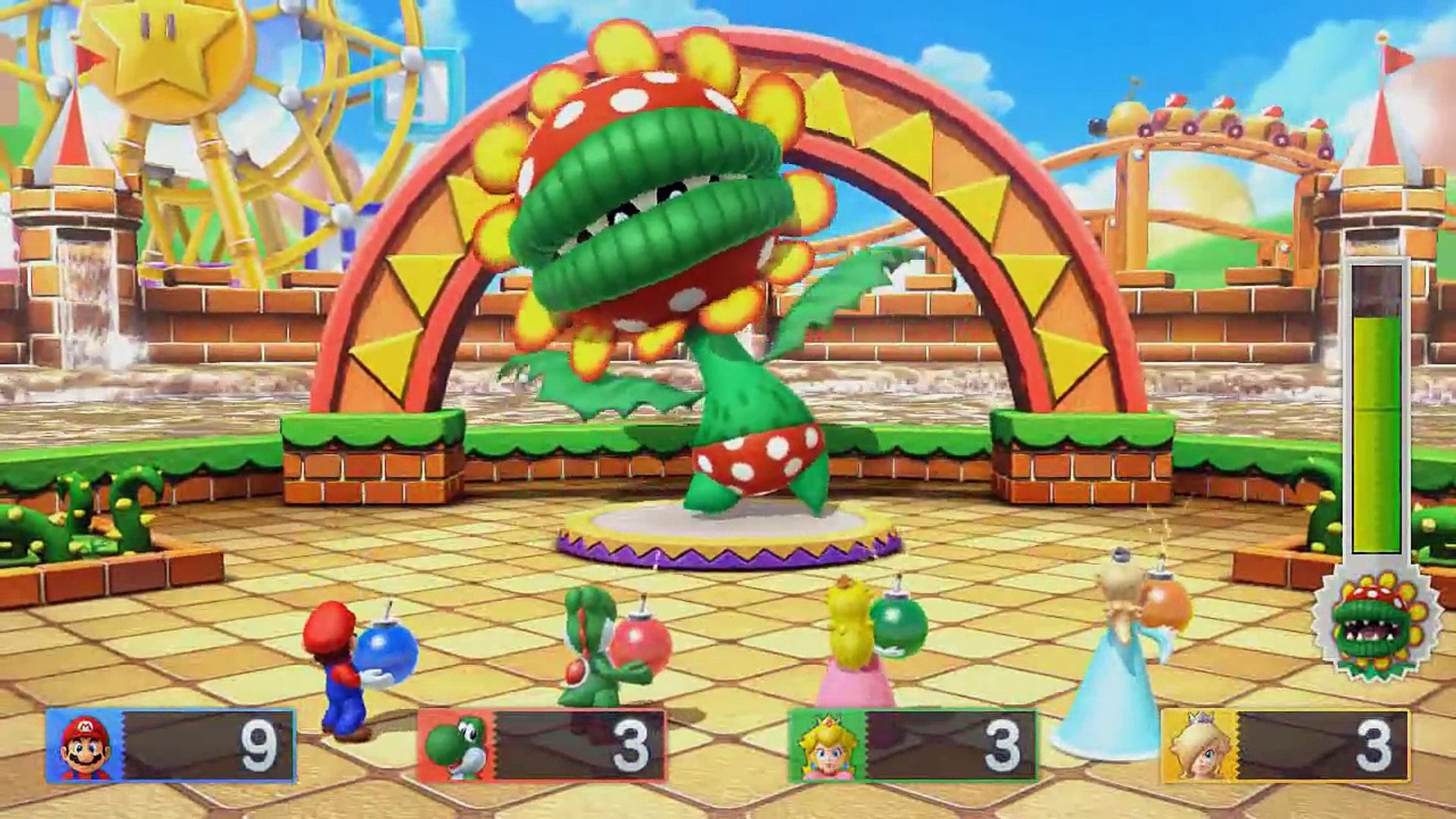 Mario Party 10 - All Boss Battle Minigames (All Bosses)