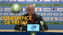 Conférence de presse Clermont Foot - AJ Auxerre (1-0) : Pascal GASTIEN (CF63) - Francis GILLOT (AJA) - 2017/2018