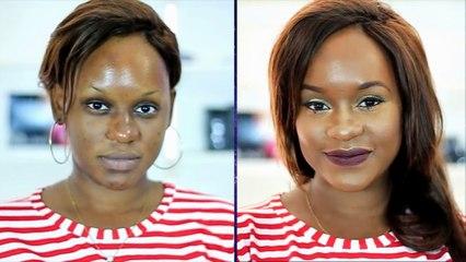 LES TUTOS DE MASHA: S1/5_Halo Eyes + Brown Lips (Make-up avec la Palette Coque d'Or Guerlain 03)