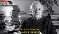 La educación según Noam Chomsky objetivos, impacto tecnológico, coste y demás