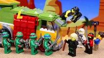 Lego Teenage Mutant Ninja Turtles Meet The Lego Ninjago Movie Ninjas from Dimension X with Garmadon