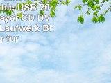 LESHP USB Externes CD RW portable USB 20 CD DVD Player CD DVD RW ROM Laufwerk Brenner für