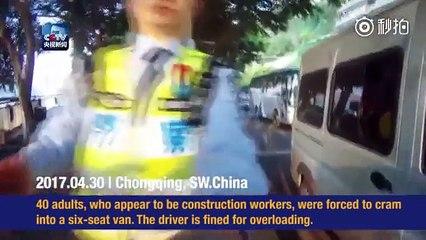 40 people in 6 person van