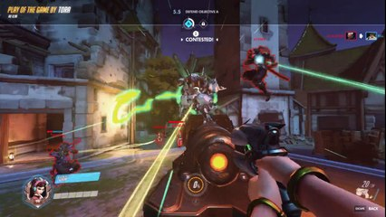 Overwatch 000-DVA-000-076 Highlight Reel 186 PoTG Bug and Commentary