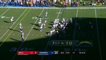 Los Angeles Chargers quarterback Philip Rivers absorbs huge hit, still completes 21-yard pass to Travis Benjamin