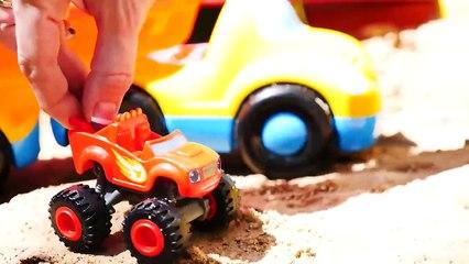 Choo-Choo Train FACTORY! - Blaze Toy Trucks Sandpit Game for kids - kids toys videos for children-a2ijN4JUpx4