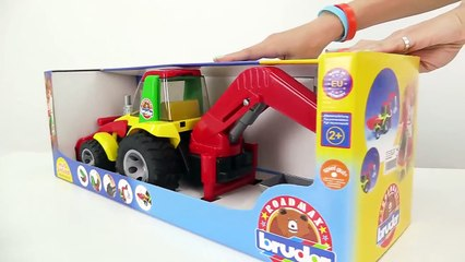 Construction Trucks for Children Unboxing Paw Patrol BRUDER Toy Tractors & Toy Truck Videos for kids-JCoHRsyg5F8