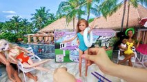Frozen Elsa Pool Party Barbie Pool Party with Anna & Kellyバービー人形プールパーティーBarbie Elsa Festa na Piscina