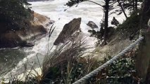 Windy Weather Churns Up Sea Foam 'Snow' Storm-fxSkkY6FViE