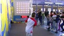 Les enfants ont pu s'essayer au mur digital tennis hier à l'Open 13 Provence
