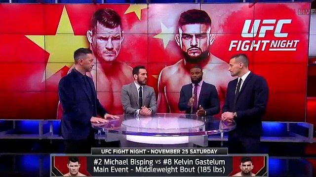The UFC on FOX crew talks about Michael Bisping's fight against Kelvin Gastelum _ UFC ON FOX-M-_KxEhQni4