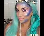 Makeup artists are using fishnets to create mermaid scales