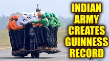 Indian Army creates new Guinness World Record with 58 men on one bike; Watch Video | Oneindia News