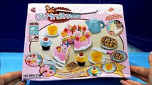 Play House DIY Kitchen Toys Unboxing Fruit Birthday Cake & Tea Cups Playset Creative Assembling Toy