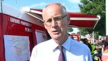 Le point sur la situation de l'incendie de Carro par le préfet Stéphane Bouillon
