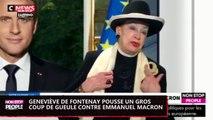 Emmanuel Macron : Geneviève de Fontenay lui passe un savon ! (Vidéo)