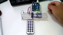 Controlling 7 Segment Display with IR Remote using Arduino Uno