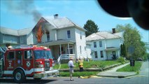 Newark Ohio Fire Department 252 Woods Ave Working House Fire Incident Command with audio