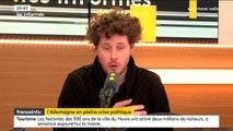 """Julien Bayou (EELV) : """"Peut-être qu'il est temps qu'Angela Merkel tire sa révérence"""""""