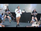 Christina Milian performs in Los Angeles at store
