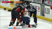 Great NHL Fight !!! Micheal Haley vs. Michael Liambas (11-19-2017) | NHL