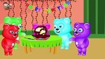 Mega Gummy Bear Celebrating Happy New Year Finger Family Rhyme For Childrens