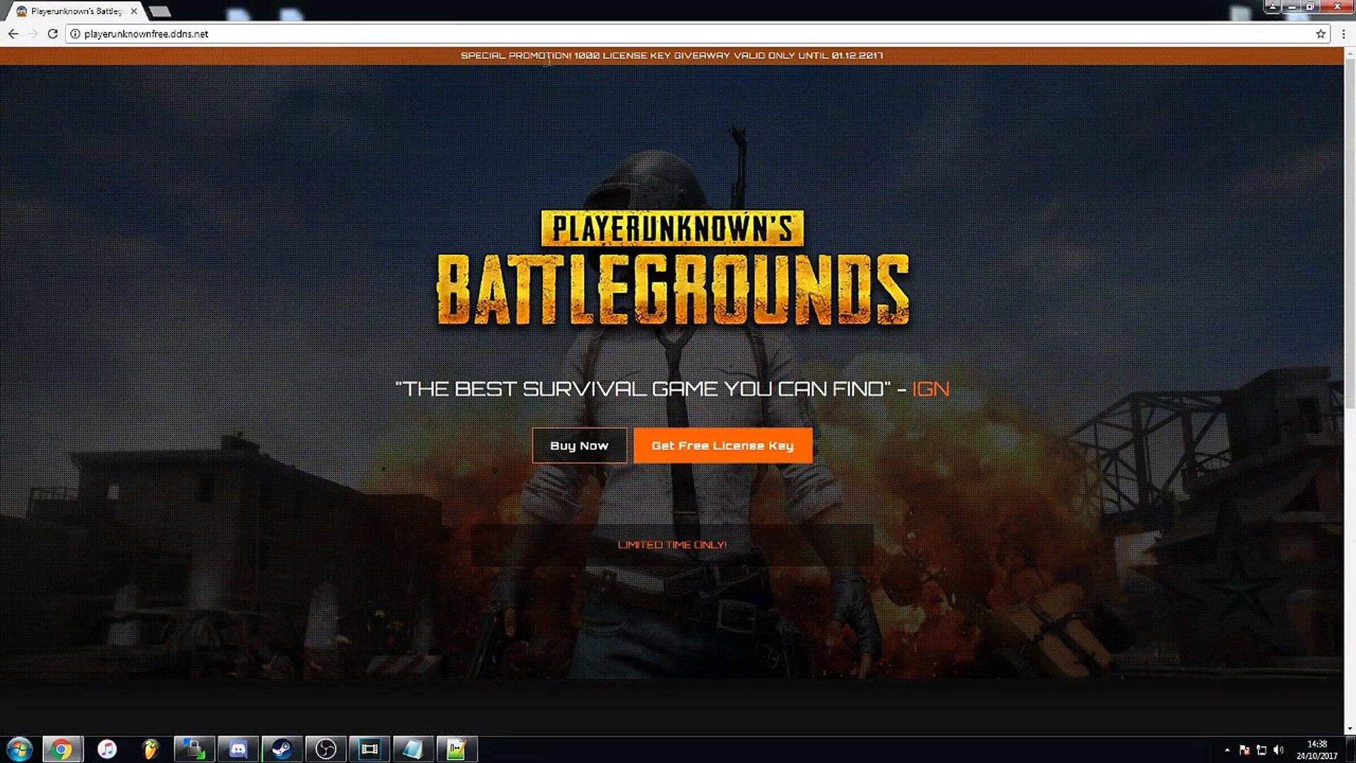 PLAYERUNKNOWN BATTLESGROUND Free Steam Key [VOICE] [PROOF] - PUBG For Free  No Crack [WORKING OCT 17]