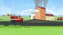 Doctor McWheelie and fire truck for kids  Car cartoons & kid cartoons. Fire engine cartoon.-rrj9-3Wv_bc