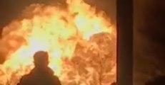 Gas Line Fire Lights Up Sky Over Auburn Hills, Michigan