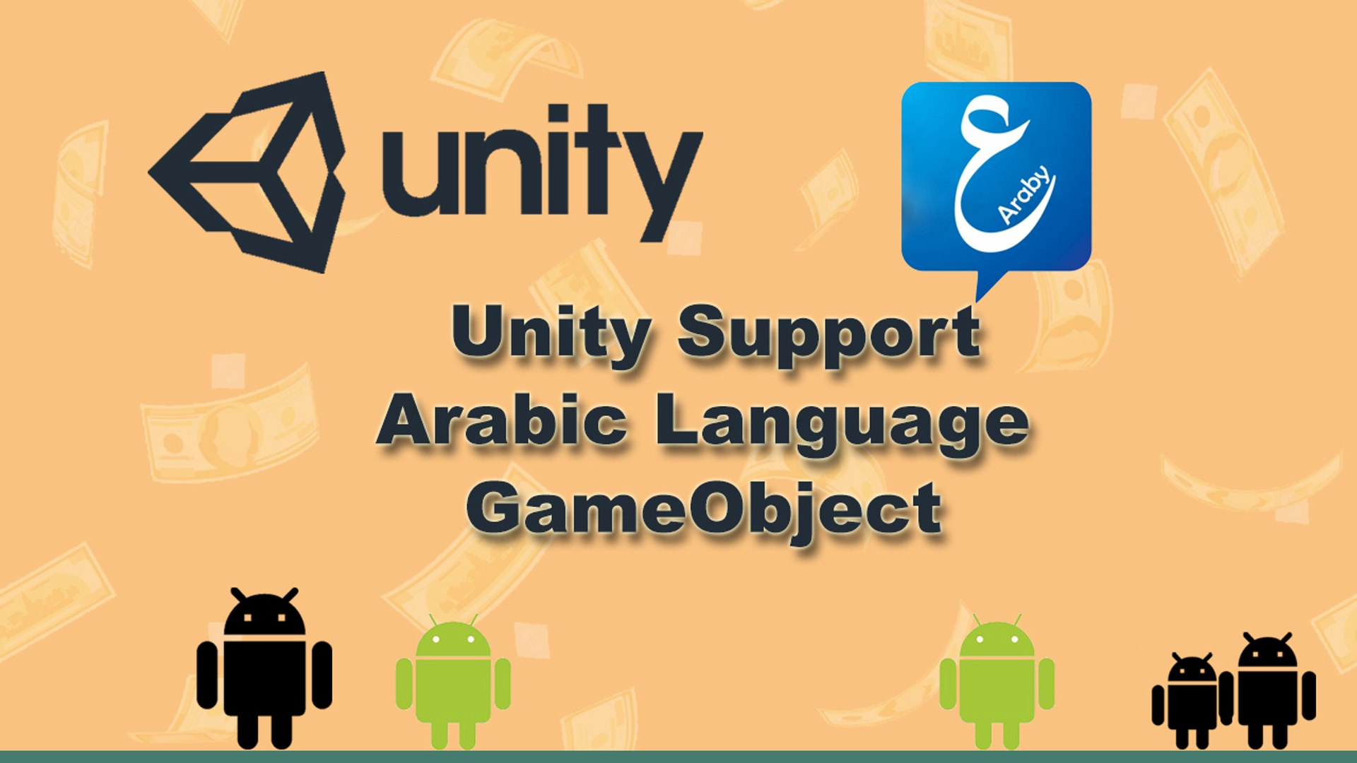 Unity 3d support Arabic language - Gameobject
