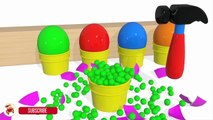 Learn Colors With Surprise Eggs Balloons Balls for Children - Kinetic Sand Surprise Tools