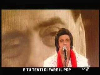 Crozza-Elvis: canzone per Berlusconi.