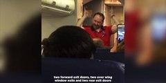 Ce steward rendra votre voyage en avion beaucoup plus sympa... Enorme