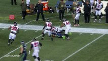Russell Wilson throws interception to Desmond Trufant, then chases him down