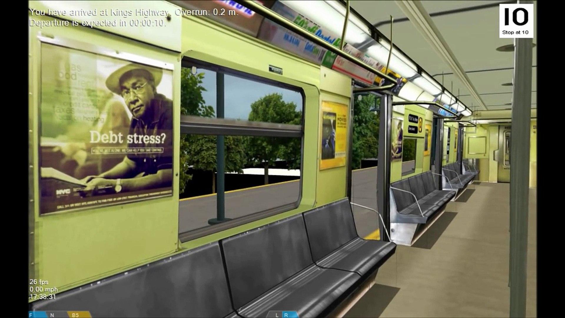 OpenBVE HD EXCLUSIVE: New York City Subway R40 Slant Q Train Railfan 7th  Avenue to Coney Island