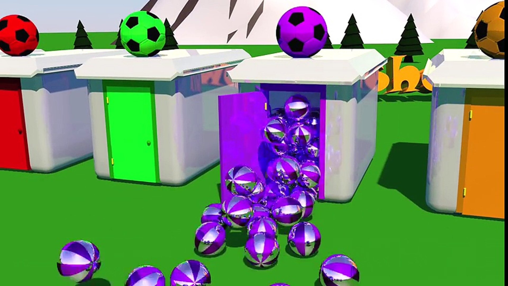 Learn Colors with 3D Doors and Soccer Balls Colors Video for Children and Kids   Kids Show (2)
