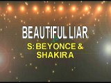 Beyonce and Shakira Beautiful Liar Karaoke Version
