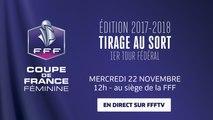 Mercredi 22, Coupe de France Féminine : le tirage du 1er tour fédéral en direct (12h00)