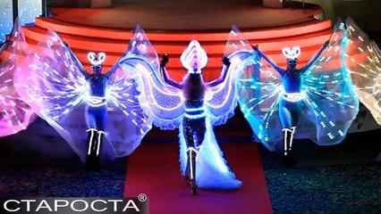 Light Show Fire Angels – Merry Christmas Dance Show