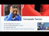 John Terry hijacks Fernando Torres' Fakebook page*
