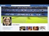 Tottenham's Luka Modric checks in at Real Madrid - see his Fakebook profile