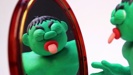 HULK HEAD SWAPS ELSA Superhero Play Doh Clay Stop Motion Animations Disney Frozen