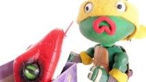 VIPER Eats Clay Ninja Turtle _ Snake BITES Superhero TMNT Stop Motion Reptile Animation