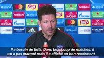 "Football/Atletico: ""Griezmann a besoin de buts"" (Simeone)"