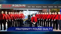 Fraternity Found Guilty in Hazing Death of Pledge