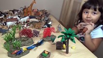 My Animal Toy Collection in the Box Part 3 Schleich Safari Wildlife ZOO Farm Animals Toys