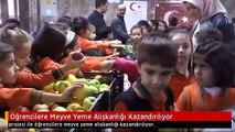 Öğrencilere Meyve Yeme Alışkanlığı Kazandırılıyor