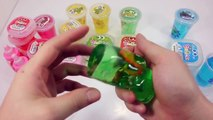 Learn Colors How To Make Rainbow Colors Jelly Monster Slime Foam Clay Toys DIY